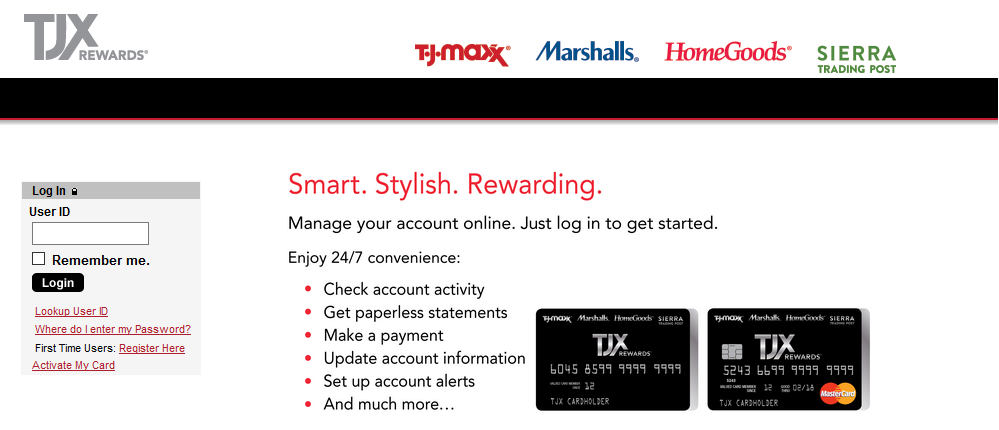 TJX Rewards MaterCard Activation